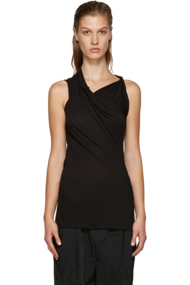 Rick Owens Lilies - Black Draped T-Shirt
