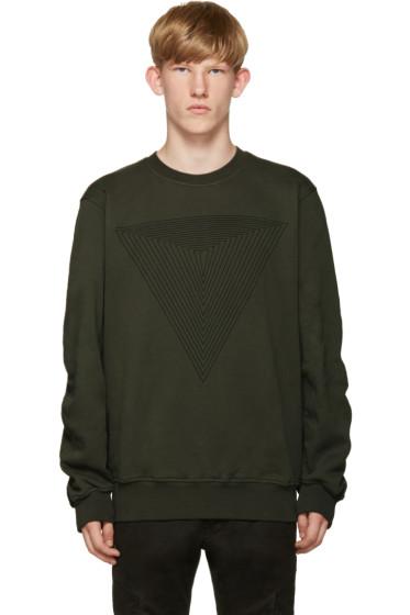 Public School - Green Stoma Triangle Sweatshirt