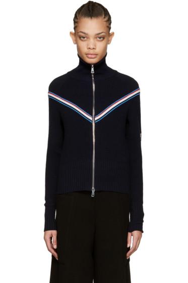 Moncler - Navy Zip-Up Cardigan