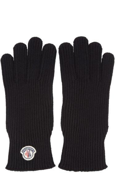 Moncler - Black Wool Gloves