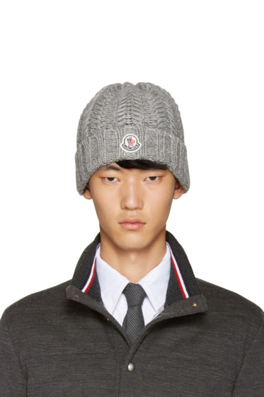 Moncler - Grey Cable-Knit Beanie
