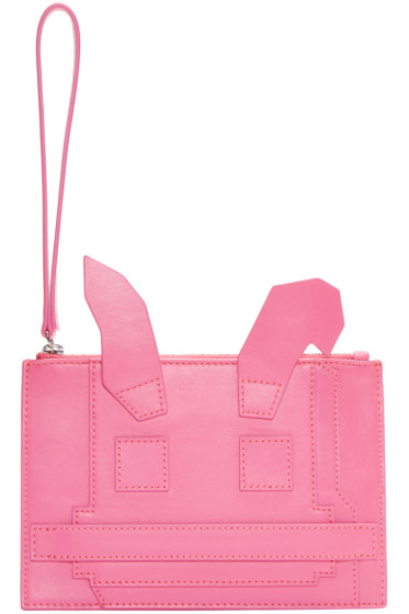 McQ Alexander Mcqueen - Pink Electro Bunny Pouch