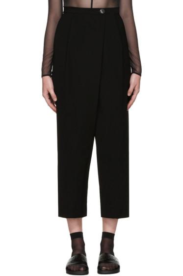 McQ Alexander Mcqueen - Black Wide-Leg Trousers