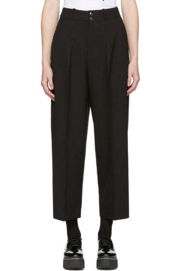 McQ Alexander Mcqueen - Black High-Rise Trousers