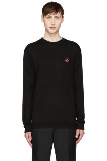 McQ Alexander Mcqueen - Black Wool Embroidered Sweater