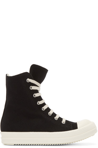 Rick Owens Drkshdw - Black High-Top Sneakers
