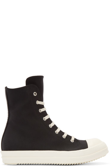 Rick Owens Drkshdw - Black Nylon High-Top Sneakers
