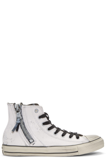 Converse by John Varvatos - White Chuck Taylor All Star Zip High-Top Sneakers