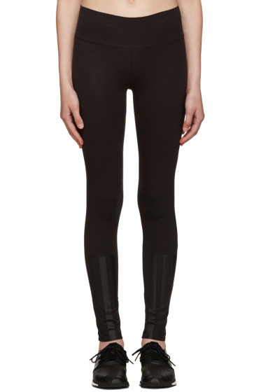 Y-3 - Black Jersey Leggings