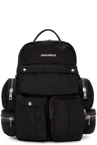 Dsquared2 - Black Multi Pockets Backpack