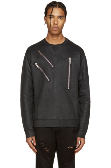 Dsquared2 - Black Coated Zips Dean-Fit Pullover