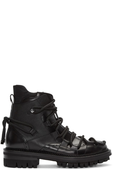 Dsquared2 - Black Lace-Up Boots