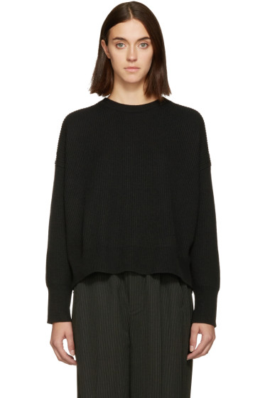 Helmut Lang - Black Open Back Sweater