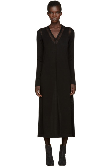 Maison Margiela - Black Jersey Long Dress