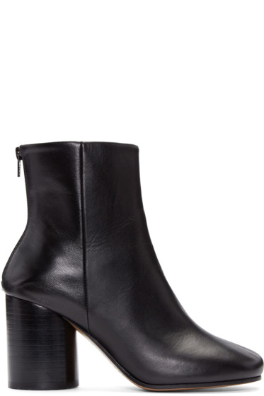 Maison Margiela - Black Leather Sock Boots