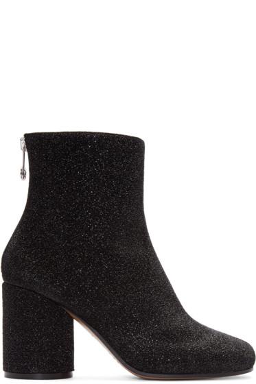 Maison Margiela - Black Metallic Textile Boots