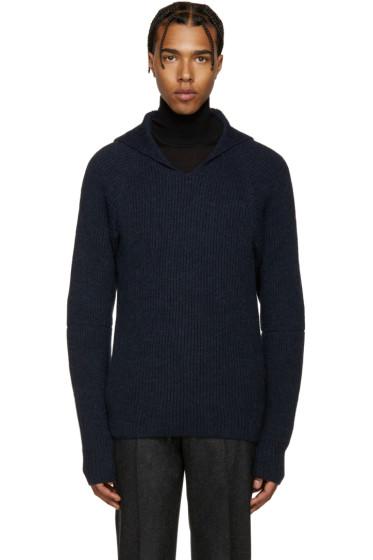 Maison Margiela - Navy Hooded Sweater