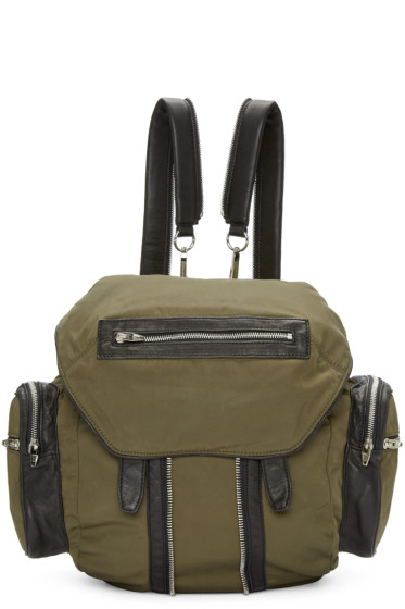 Alexander Wang - Green Nylon & Leather Marti Backpack