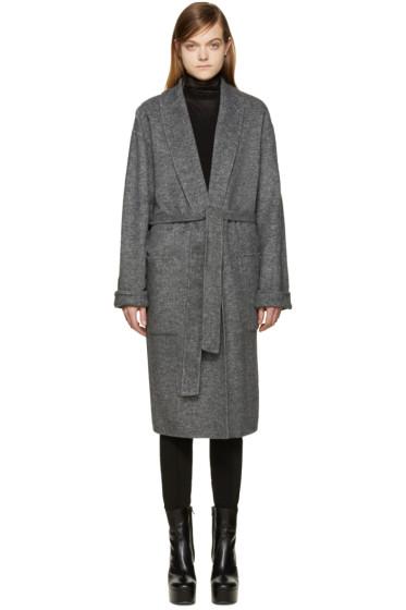Alexander Wang - Grey Belted Robe Coat