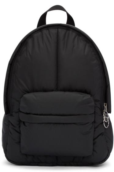 MM6 Maison Margiela - Black Puffy Backpack