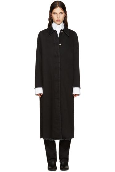 MM6 Maison Margiela - Black Long Denim Coat