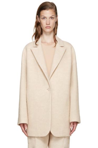 MM6 Maison Margiela - Beige Wool Coat