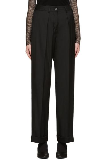 MM6 Maison Margiela - Black Wool-Blend Trousers