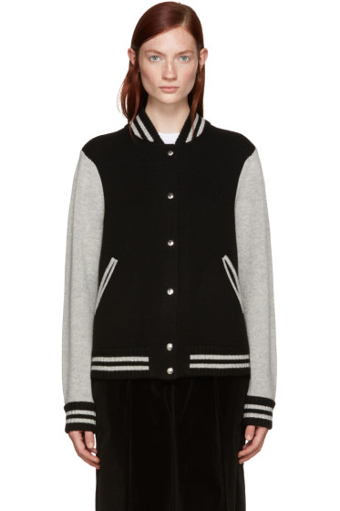 Marc Jacobs - Black Wool Varsity Bomber Jacket