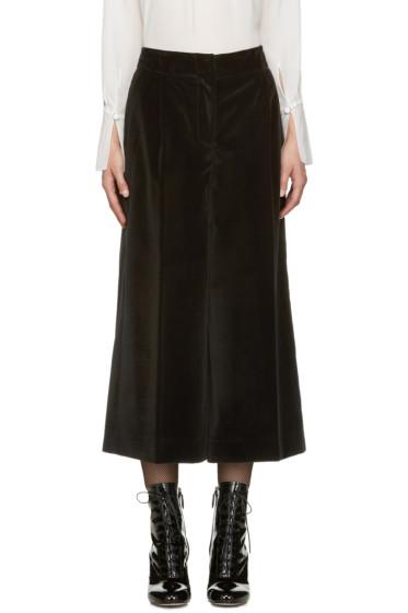 Marc Jacobs - Black Velvet Wide-Leg Trousers