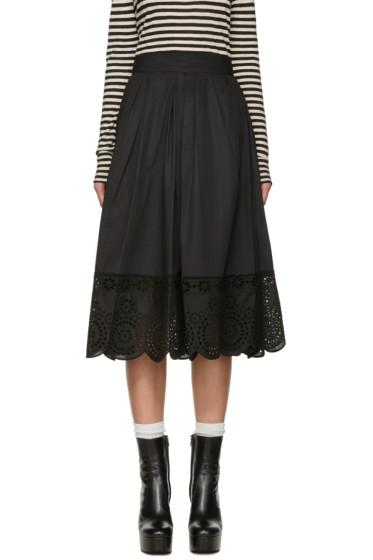 Marc Jacobs - Black Broderie Anglaise Skirt