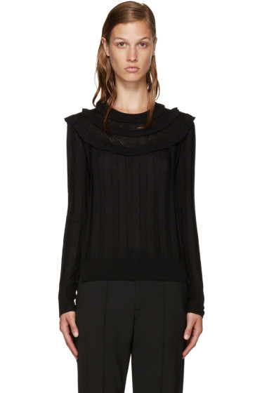 Marc Jacobs - Black Wool Pointelle Sweater