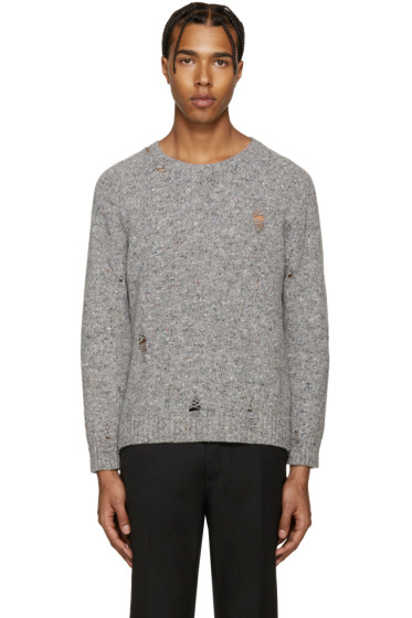 Marc Jacobs - Grey Distressed Olympia Sweater