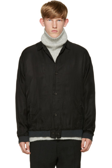 Robert Geller - Black Cupro Shirt