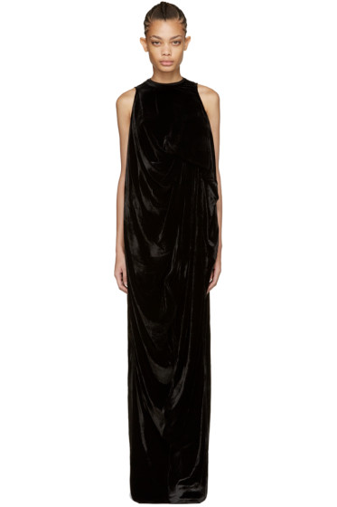 Rick Owens - Black Velvet La Brea Dress