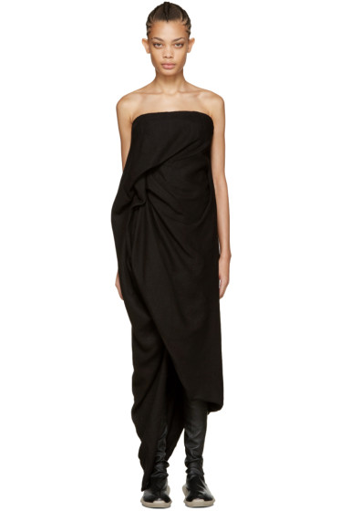 Rick Owens - Black Twirl Dress