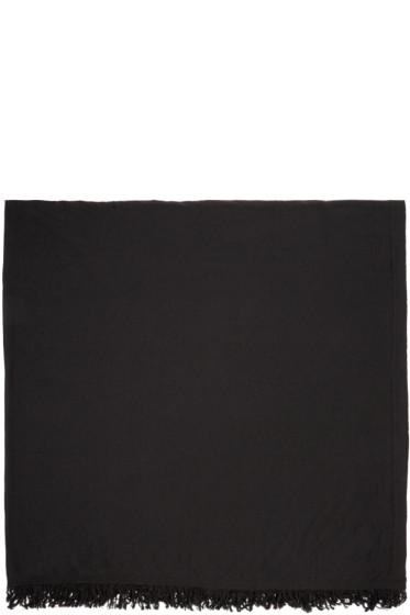 Rick Owens - Black Wool Scarf