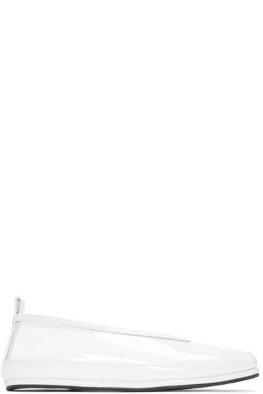 Comme des Garçons - Clear & White PVC Ballerina Flats