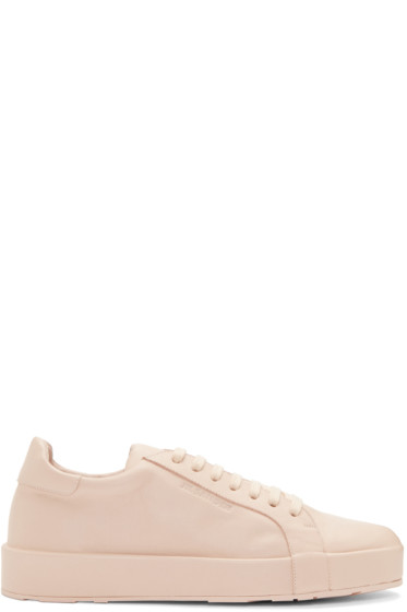 Jil Sander - Pink Leather Miro Sneakers