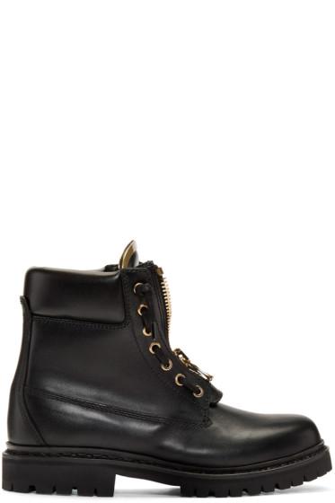 Balmain - Black Taiga Combat Boots