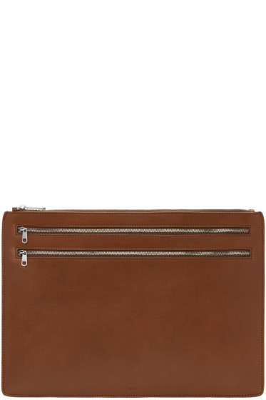 A.P.C. - Brown Tony Document Holder