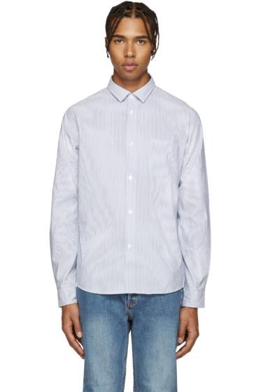A.P.C. - Blue Etienne Striped Shirt