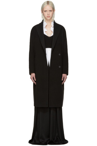 Lanvin - Black Wool Oversized Coat
