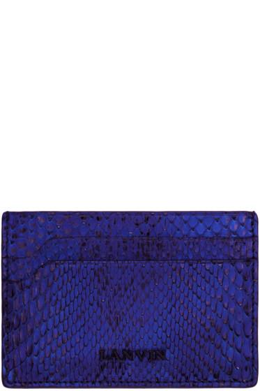Lanvin - Blue Python Card Holder