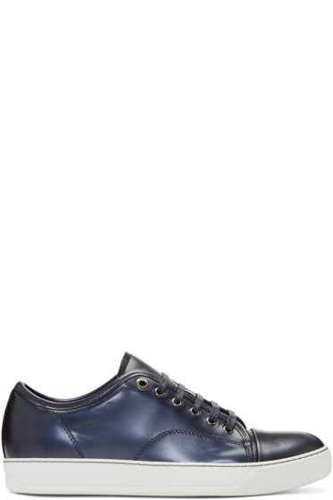Lanvin - Navy Patent Leather Sneakers