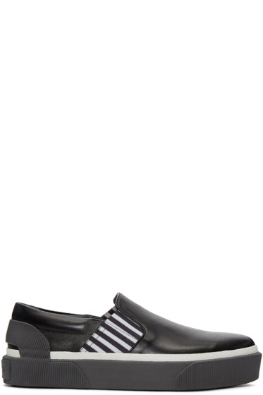 Lanvin - Black Creeper Slip-On Sneakers
