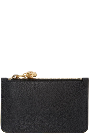 Alexander McQueen - Black Leather Coin Pouch