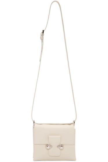 Alexander McQueen - White Twin Skulls Shoulder Bag