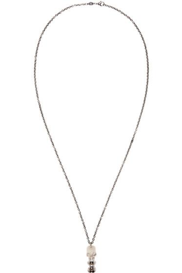 Alexander McQueen - Silver Skull Pipe Necklace