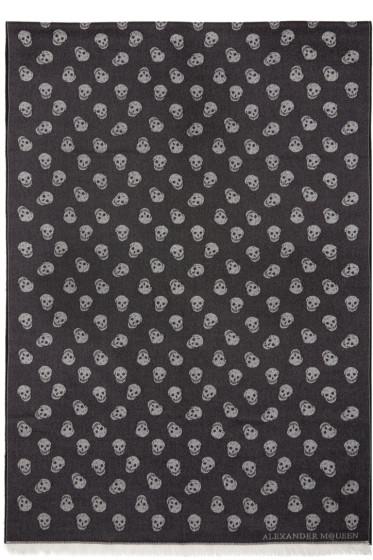 Alexander McQueen - Black Skull Scarf