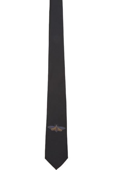 Alexander McQueen - Black Silk Moth Tie